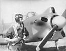 Афанасьев Евгений Николаевич у самолета Як-18, Киевский аэроклуб ДОСААФ, 1950-е годы