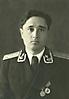 Капитан Мугатаров Х.А., офицер штаба 5 ГМТАП. Гвардейское, 1954 г.