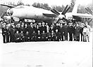 Ту-95РЦ бн 34. Ветераны  392 ОДРАП на 20-летнем юбилее полка. Кипелово, 1983 год
