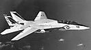 F-14A эскадрильи VF-143 с авианосца USS America. Конец 1970-х годов, Северная Атлантика.