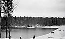 Полюгино озеро. Плотина. Апрель 1968 года.