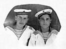 Курсанты ВМАУ им. Леваневского (справа Мугатаров Х.А.). Июль 1946 г.