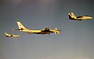 Ту-95РЦ в сопровождении Tornado и F-15